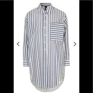 Stripe Tunic Shirt By Topshop Boutique